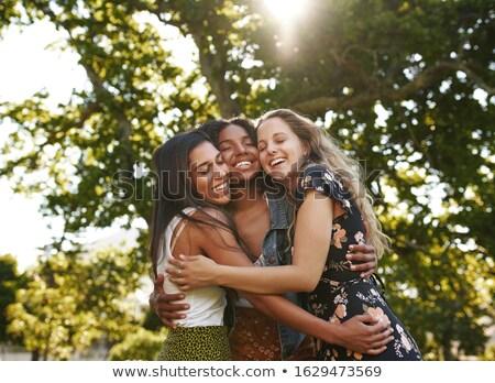 three friends. front Stock photo © Paha_L