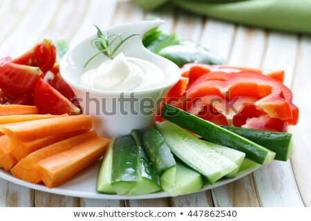 appetizer, vegetables and dips stock photo © M-studio