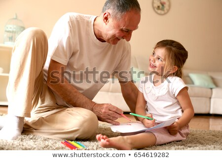 child and man watching each other Stock photo © photography33