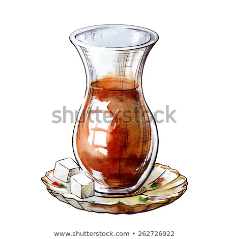 traditioneel · turks · glas · twee · tabel - stockfoto © elly_l