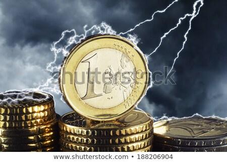 gyenge · Euro · valuta · pénzügyek · férfi · sír - stock fotó © johanh