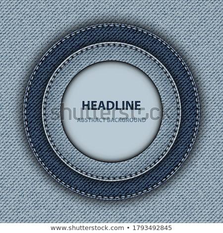 デニム フレーム 異なる 青 ストックフォト © Stocksnapper