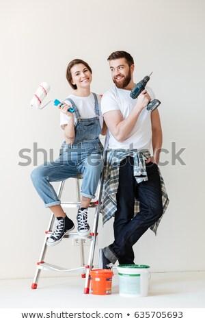 Man makes repairs Stock photo © IMaster