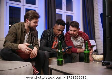 Três futebol equipe homem futebol sol Foto stock © photography33