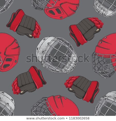Winter safe red seamless pattern  Stock photo © lkeskinen