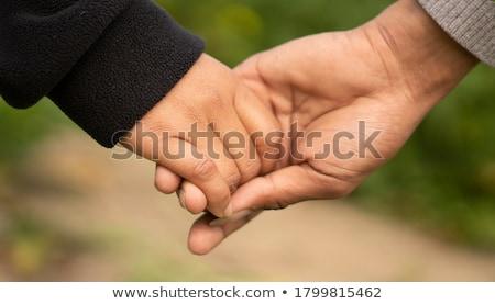 senior · jonge · handen · holding · handen · witte · vrouw - stockfoto © melpomene