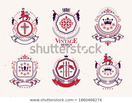 Heraldic composition. Set Stock photo © Silanti