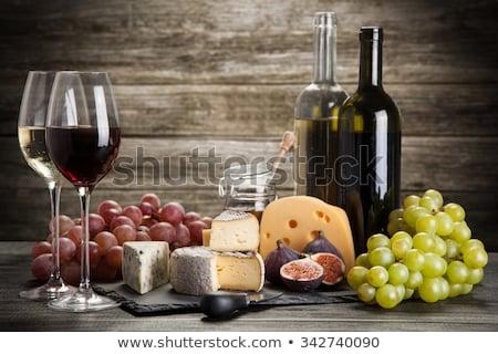 wineglasses and cheese Stock photo © M-studio