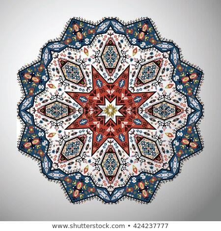 родной стиль орнамент декоративный звезды вектора Сток-фото © Sylverarts