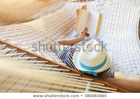 Yalınayak kum yaz tatil rahatlatıcı su Stok fotoğraf © juniart