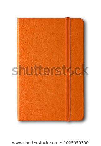 Blank Orange Notebook ストックフォト © Daboost