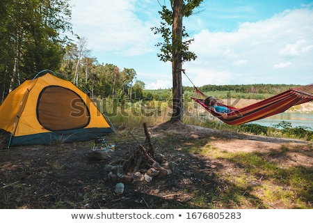 camping tents by the lake stock photo © witthaya