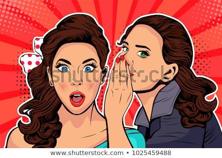 woman whispering gossip stock photo © dolgachov