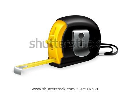Amarelo fita métrica ferramenta fundo branco medição Foto stock © wavebreak_media