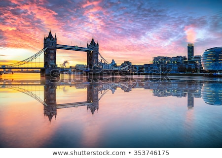 Cityscape of the River Thames at night Stock photo © Snapshot