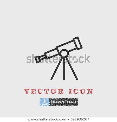 Vektor ikon távcső tárgy Stock fotó © zzve