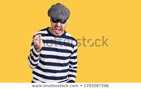 портрет агрессивный бандит человека безопасности синий Сток-фото © luckyraccoon