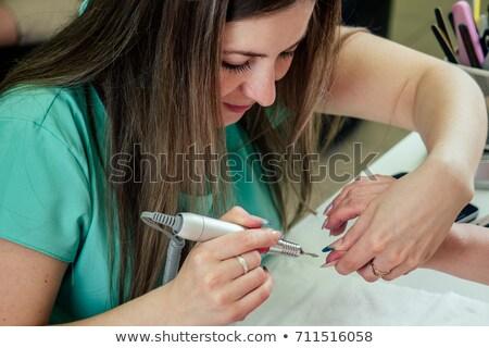 ногтя техник палец ногти женщину Сток-фото © wavebreak_media