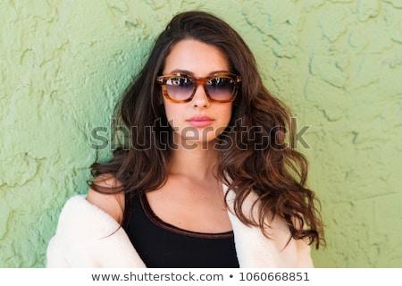 Stok fotoğraf: Güzel · avrupa · model · portre · uzun · saçlı