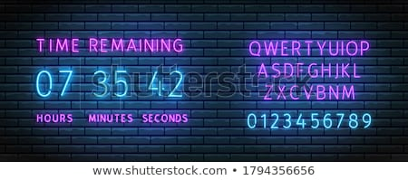 Calendar with Timer on Alphabet Background. Stock photo © tashatuvango
