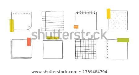 Notatka papieru wstążka ikona Zdjęcia stock © zzve