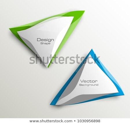 Ayarlamak origami afişler soyut simge örnek Stok fotoğraf © obradart