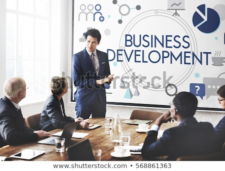 man working on business development plan stock photo © stockyimages