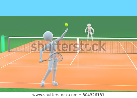 Platform Tennis Court 3 Stock photo © chrisbradshaw