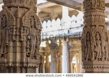szobor · hinduizmus · templom · India · művészet · kő - stock fotó © meinzahn