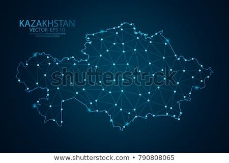 Black Kazakhstan map Stock photo © Volina
