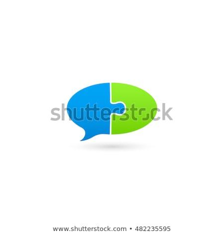 携帯 · 緑 · パズル · 白 · ウェブ · デジタル - ストックフォト © tashatuvango
