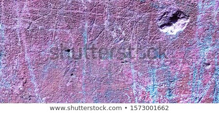 Grunge, rusty concrete wall with random graffiti Stock photo © photocreo