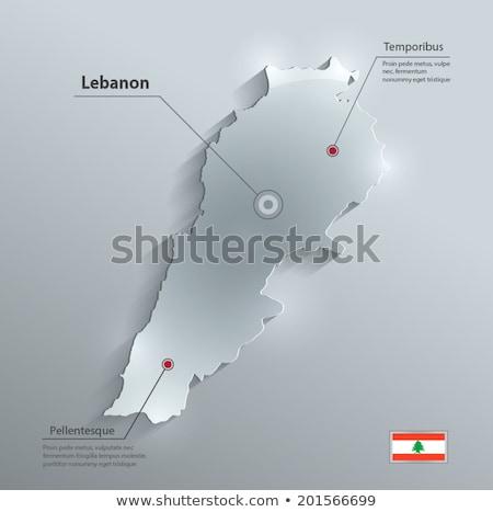 3D характер флаг Ливан изолированный Сток-фото © Kirill_M
