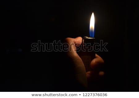 çakmak alev açmak Metal beyaz ışık Stok fotoğraf © dvarg