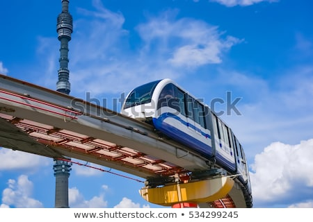 Moscou monorail chemin de fer ville transport public bâtiment Photo stock © reticent