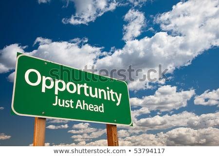 opportunities just ahead on green billboard stock photo © tashatuvango
