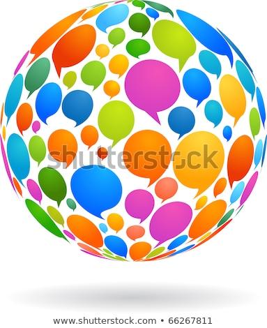 social · media · pęcherzyki · wzór · kolorowy · mowy · przezroczystość - zdjęcia stock © burakowski