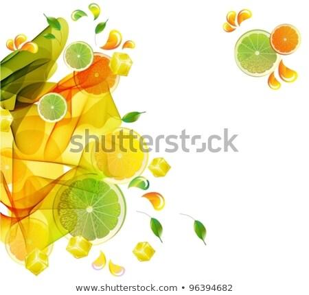 オレンジ · レモン · 石灰 · ジュース · スプラッシュ · 抽象的な - ストックフォト © elmiko