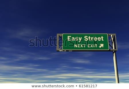 easy street freeway exit sign stock photo © eyeidea