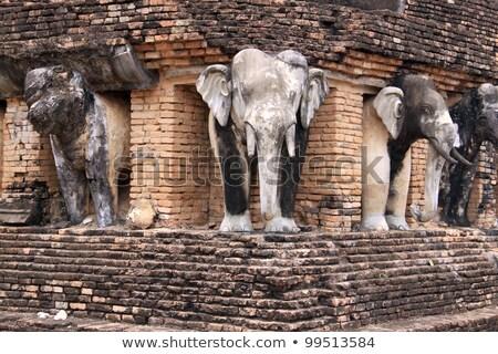 огромный слон статуя здании музее Бангкок Сток-фото © smithore
