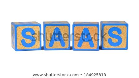 SAAS - Colored Childrens Alphabet Blocks. Stock photo © tashatuvango