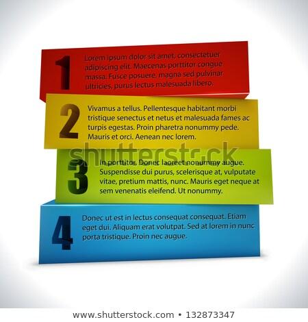 Business presentatie website 3D blokken optie Stockfoto © tuulijumala
