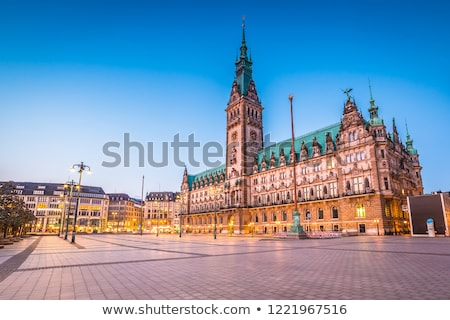 ships and buildings in hamburg stock photo © elxeneize