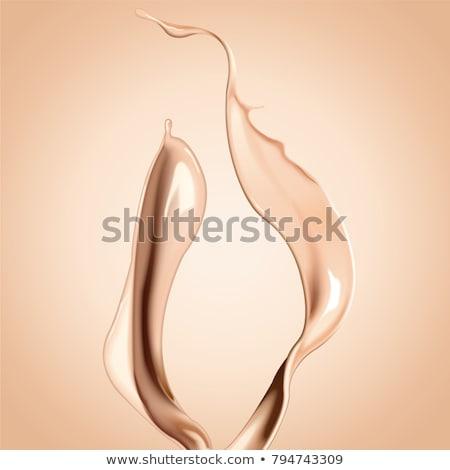 liquide · beige · composent · fondation · blanche · femmes - photo stock © kubais
