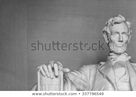 statue of abraham lincoln at the lincoln memorial stock photo © meinzahn