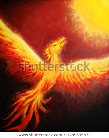 Flying phoenix Stock photo © Soleil