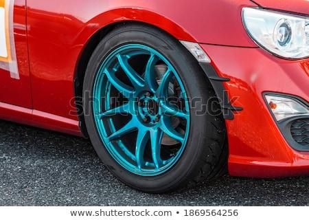 Chroom wielen wiel banden geïsoleerd witte Stockfoto © kitch