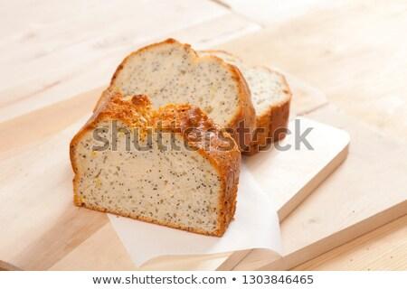 Three slices of delicious lemon sponge cake Stock photo © raphotos