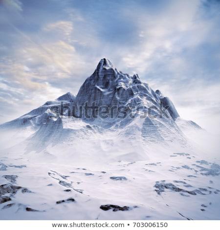 горные сцена облачный Blue Sky природы льда Сток-фото © chrisga