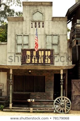 Zdjęcia stock: Banku · zachód · stylu · budynku · drewna